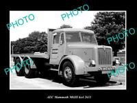 OLD POSTCARD SIZE PHOTO OF 1960 AEC MAMMOTH Mk II TRUCK LAUNCH PRESS PHOTO