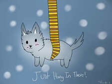 """Hang in There ( dog ) 24 X 36"""" Poster"""
