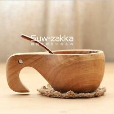 Kuksa Nordic Wooden Craft Drinking Cup Finland Handmade Mug Home Decor