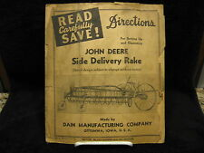 "1940 John Deere Ottumwa ""DAIN"" Side Delivery Rake Operating & Set-Up Directions"