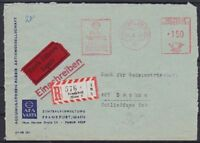 Federal 150 Pf. Afs Courier R- Letter Frankfurt Afa Factory Ag - Bochum With Bp