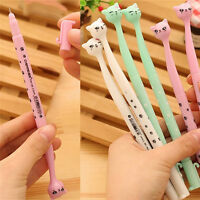 5X Cute Cat Random Kawaii Fun pens black Gel ink Roller Ball Point Pen Set Ou