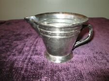 "Potterybarn Silverplate Creamer 3.5""tall 5"" wide"
