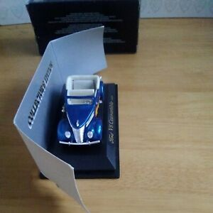 1937 FORD V8 CONVERTIBLE in blue - 1:43 Scale Die-cast Car Model Road Signature