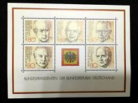 Germany 1982 Unused Mint Sheet PRESIDENTS HEUSS LUBKE HEINEMANN SCHEEL