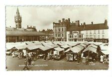 Postcard Darlington Market Place 1960  RP Durham