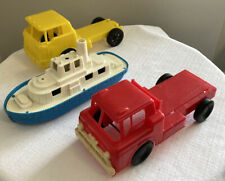 Vintage Gay # 1 Plastic Flatbed Construction Truck 6 1/2