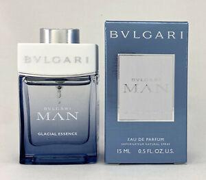 BVLGARI MAN GLACIAL ESSENCE SPRAY EAU DE PARFUM 15 ML 0.50 FL.OZ  NEW