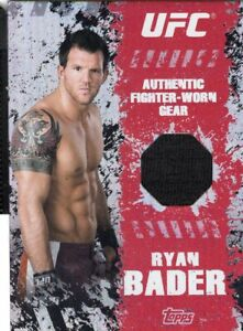 Ryan Bader 2010 Topps UFC Main Event Fighter Gear Relic Card