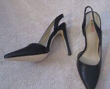 JustFab Sexy Black Sling Back Pump Stiletto Shoe *Sz 7.5M