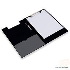 PACK OF 20 BLACK FOLD OVER A4 SIZE CLIP BOARDS CLIPBOARDS & PEN HOLDER