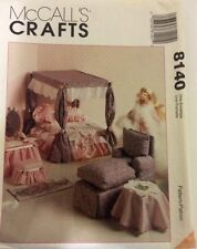 "8140 McCall's Furniture for Fashion Doll Sewing Pattern Size 11.5""-12"" Uncut"