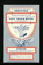 "Military Postcard WWII Comic ""Medals"" 1942 Patriotic Propaganda Easy Touch Medal"