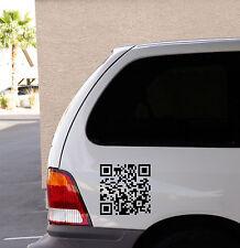 CODICE QR per il tuo sito Web del muro o auto decalcomania Sticker, alta qualità