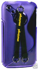 NEW! IPHONE 3 CASE WITH HAND AND NECK STRAPS - BLUE - BLACK - PURPLE