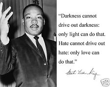 "Martin Luther King Jr. MLK "" Darkness"" Autograph Quote 11 x 14 Photo Picture #p1"