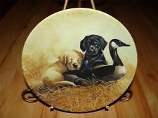 """Ducky Duty"" FIELD TRIPS by Lynn Kaatz Knowles BLACK LABRADOR DOG PUPPY Plate"