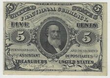Fractional Currency 3rd Issue - Nice Uncirculated Clark Fr. 1238 green back