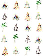 FUN Christmas Trees  Waterslide Nail Decals/Nail Art