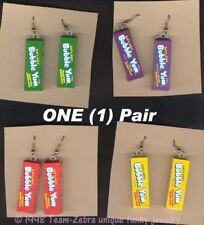 Funky Bubble Yum Earrings Punk Novelty Candy Food Gum Charms Costume Jewelry-1Pr