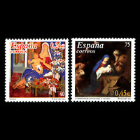 Spain 2001 - Christmas - Paintings - Sc 3123/4 MNH