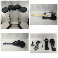 Rockband Xbox 360 Set Bundle, Microphone, 2 Guitar, Drums, 2 Drum Pedals! 🔥🔥🔥