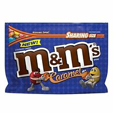 NEW SEALED CARAMEL M&M'S MILK CHOCOLATE CANDIES SHARING SIZE 9.60 OZ BAG MARS
