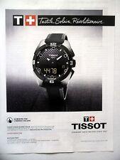 PUBLICITE-ADVERTISING :  TISSOT Touch Expert Solar  2014 Montres