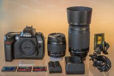 NIKON D70s DSLR-digitale Spiegelreflexkamera mit 2 Objektiven TOP