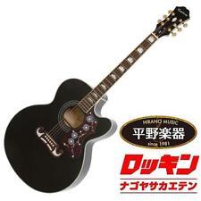 Epiphone EJ-200SCE Black beutiful JAPAN rare useful EMS F/S*