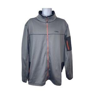 Cabela's Jacket Textured Pocket On Sleeve Full Zip Light Grey 3XLT Big Tall Mens