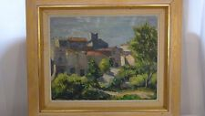 "EWALD HERRIK(b.1907 DANISH)""AVINYONET,SPAIN, AFTERNOON""1969 OIL ON CANVAS,SIGNED"