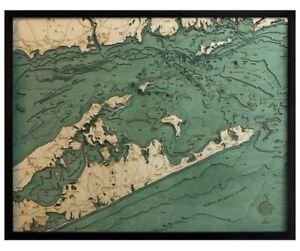 Nautical Wood Chart-Eastern Long Island