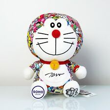 Uniqlo Doraemon X Takashi Murakami Plush Toy AUTOGRAPHED - SIGNED - SHIPS NOW