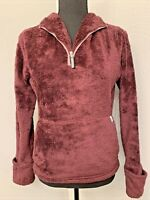 The North Face Womens 1/4 zip Plush Fleece pullover jacket Extra Small XS Grape