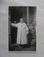 c1960 B/W Photograph. Mature Woman in White Overcoat. Phyllis Robertson, Purley