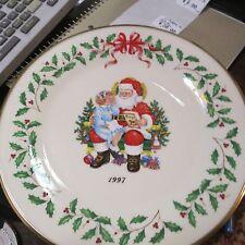 "Lenox 1997 Annual Holiday Plate Christmas Mint 10 5/8"" Usa"
