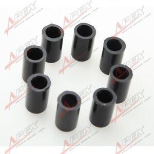 "8 X 4mm 5/32"" Silicone Blanking Cap Intake Vacuum Hose End Bung Plug Caps Black"