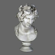 "Dionysus Bacchus bust sculpture 28"" Greek Roman God Museum Replica Reproduction"