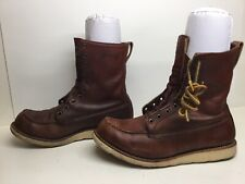 MENS IRISH SETTER BY RED WING WORK BROWN BOOTS SIZE 10 D