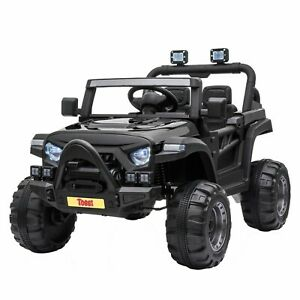 Available in Four Colours Nyyii Childrens 2 Seater Electric Jeep White 12V Kids Ride on Car Kids Electric Cars with Remote Control//LED Lights