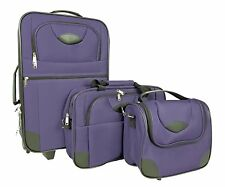 Reisetaschen Set incl. Trolley 3 tlg. Koffertrolly Reisekoffer Kosmetiktasche