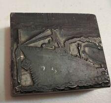 Steamship Printing Block Antique Press Titanic Lusitania Olympic Rms Hmhs Ms Ss