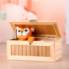 Useless Box Leave Me Alone Box Wooden Machine Don't Touch Tiger Toy Gift DOS