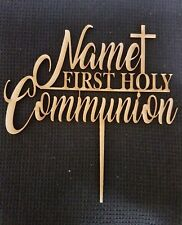 Laser Cut Wooden Cake Topper - Personalised First Holy Communion