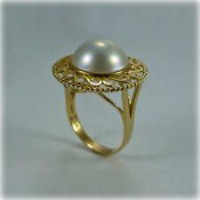 14ct Gold Mabé Pearl Dress Ring
