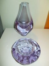 ZBS Bohemia Alexandrit Alexandrite Czech Glas Vase und Schale Glass Bowl