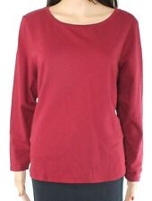 Jillian N Womens Top Classic Red Size Small PS Petite Knit Scoop Neck $24- 462