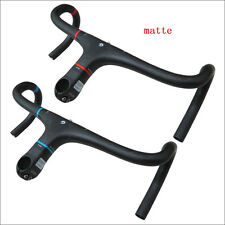 UD Carbon Fiber Integrated Road Bike Drop Bar Bicycle Handlebar Stem matte
