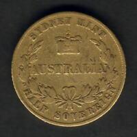 Australia. 1856 Sydney Mint - Half Sovereign..  F/aF - Trace Lustre